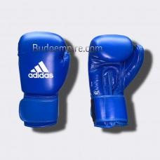 Боксерские перчатки Adidas с лицензией AIBA (синие, AIBAG1)