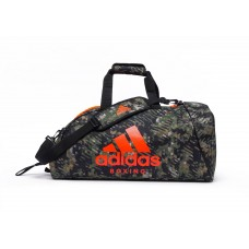 Сумка с оранжевым логотипом Adidas Boxing (зеленый камуфляж, ADIACC053B)