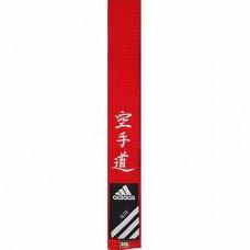 Пояс для карате Adidas серии ELITE с вышивкой (красный, ADIB242)
