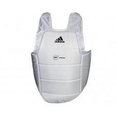 Защита туловища Adidas с лицензией WKF (белый, ADIP03)