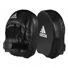 Лапа маленькая квадратная Adidas Elite Mini Mitt Square (черно/белая, ADIEMP01)
