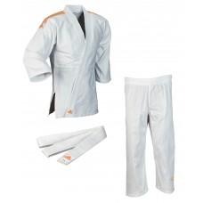 Кимоно для дзюдо Adidas Club  (белое с оранжевыми полосами, J350PK_WB)