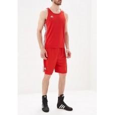 Форма для занятий боксом Adidas Base Punch New (шорты + майка, красная, ADIBTT02/ADIBTS02)