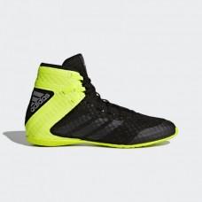 Обувь для бокса (боксерки) Adidas Speedex 16 (черно-салатовые, BA7930)