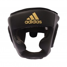 Шлем боксерский Adidas Speed Super Pro Training Extra Protect (черный/золото, ADISBHG041)