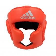 Шлем боксерский Adidas Speed Super Pro Training Extra Protect (ярко красный/серебро, ADISBHG041)