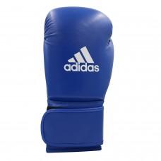 Кожаные боксерские перчатки Adidas WAKO (синий, ADIWAKOG1)