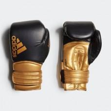 """Боксерские перчатки Adidas """"Hybrid 300"""" (черный/золотой, ADIH300)"""