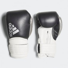"""Боксерские перчатки Adidas """"Hybrid 300"""" (черный/серебро, ADIH300)"""