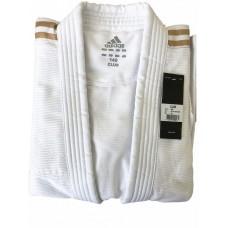 Кимоно Adidas серии ''Club'' (белое/золотые полосы, J350P_WB)