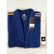 Кимоно Adidas серии ''Club'' (синий/золотые полосы, J350BP_WB)
