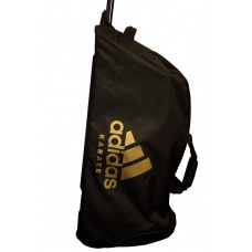 Дорожная сумка на колесах с золотым логотипом Adidas Karate (черная, ADIACC057K)