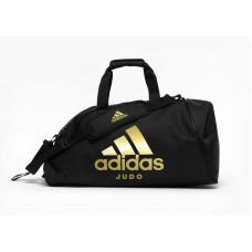Сумка-рюкзак (2в1) с золотым логотипом Adidas Judo (черный, ADIACC052J)
