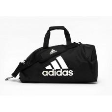 Сумка-рюкзак (2в1) с белым логотипом Adidas (черный, ADIACC052MA)
