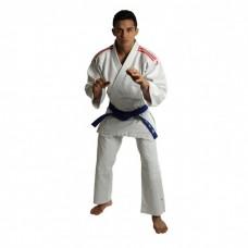Кимоно для дзюдо Club J350 белое с красными полосами