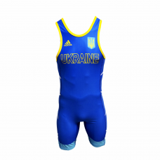Костюм для борьбы (трико) Adidas UWW (синий, 1633BLUE V2)