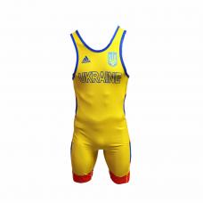 Костюм для борьбы (трико) Adidas UWW (желтый,1633RED V2)