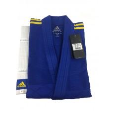 Кимоно Adidas серии ''Club'' (синий/желтые полосы, J350BP)