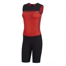 Женское трико для тяжелой атлетики Adidas Crazypower suit (красный, CW5658)