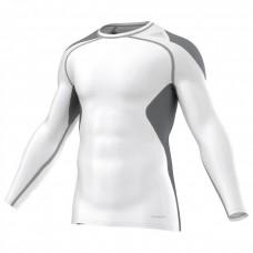 Кофта Adidas TechFit  (белый/серый, S19451)