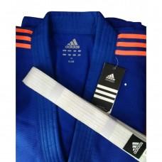 Кимоно Adidas серии ''Club'' (синий/оранжевые полосы, J350BP)