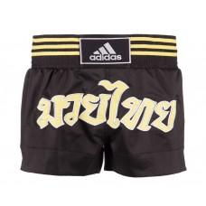 Шорты для тайского бокса Adidas Thai Boxing Short (черный/золото, ADISTH02)