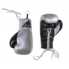 Сувенирные боксерские перчатки Adidas (черно-серебрянные, ADIBGG01)