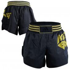 Шорты Adidas для кикбоксинга (черный/золото, ADISKB02)