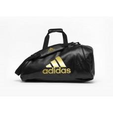 Сумка-рюкзак (2в1) с золотым логотипом Adidas Wako (черный, ADIACC051WAKO)