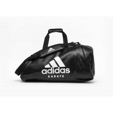 Сумка-рюкзак (2в1) с белым логотипом Adidas Karate (черная, ADIACC051K)