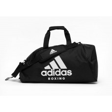 Сумка с белым логотипом Adidas Boxing (черная, ADIACC055B)