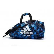 Сумка-рюкзак (2в1) с серебряным логотипом Adidas Karate (синий камуфляж, ADIACC058K)