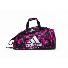 Сумка-рюкзак (2в1) с серебряным логотипом Adidas Karate (розовый камуфляж, ADIACC058K)