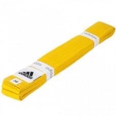 Пояс для кимоно Adidas Club (желтый, ADIB220)