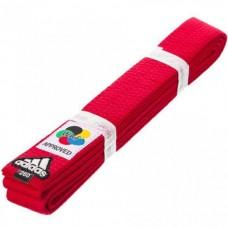 Пояс для карате Adidas серии ELITE WKF (красный, ADIB240WKF)