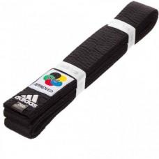 Пояс для карате Adidas серии ELITE WKF (черный, ADIB240WKF)