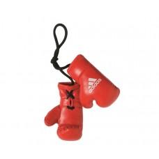 Сувенирные боксерские перчатки Adidas на шнурках (красные, ADIBPC02)