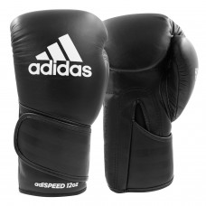 Боксерские перчатки Adidas Speed 501 Adispeed Strap up (черный, ADISBG501)